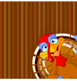 Cute turkey vector image