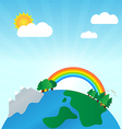 The earth in spring time development vector image