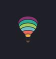 balloon journey computer symbol vector image
