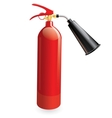 Red metal glossiness fire extinguisher vector image