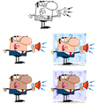 Manager Speaking Through A Megaphone Collection vector image vector image