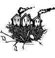 Nesting Houses vector image