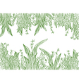 Grass banner artistic vector image vector image
