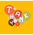 Thank You Retro Design Bubbles vector image