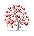 Love tree with hearts for your design vector image