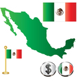Mexico map small vector image