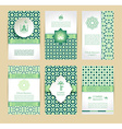 Banners set of islamic green color design vector image