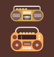 cassette player icon vector image