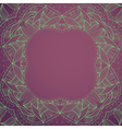 Circle lace hand-drawn ornament frame card vector image