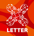 logo of the letter X floral ornament vector image