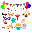 Party celebration elements vector image