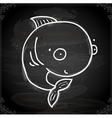 Whale Drawing on Chalk Board vector image