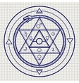 Mystical astrological sign on notebook page vector image