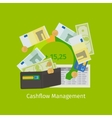 Cashflow management cartoon vector image