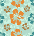 Hibiscus background vector image