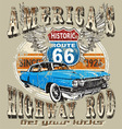 americas highway rod vector image