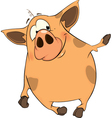 Nice pig vector image vector image