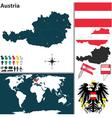 Austria map world vector image