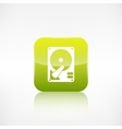 Hard disc icon Application button vector image vector image