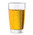 Glass of yellow juice vector image vector image