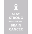 Brain cancer poster vector image