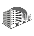 Buildings in perspective on a white background vector image