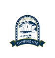 camping site sport mountain hiking icon vector image