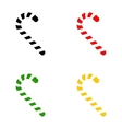 color christmas candy cane icon symbol set vector image