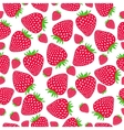 Cute seamless pattern with strawberries vector image