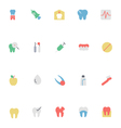 Dental Colored Icons 2 vector image