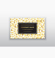 golden business cardgift or vip cards with vector image