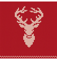 Knitted pattern with deer vector image