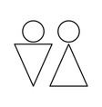Man and woman black color icon vector image
