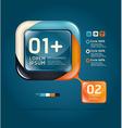 Modern glass color Design template vector image