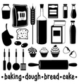 Set of products for baking vector image