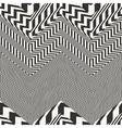 striped textured chevron optical vector image