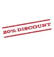 20 Percent Discount Watermark Stamp vector image
