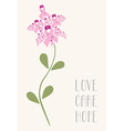 Love care hope flower concept vector image