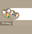 invitation to an lgbt wedding vector image