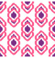 ikat geometric seamless pattern pink and violet vector image