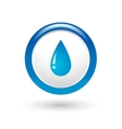 glossy water drop vector image vector image