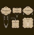 Jewelry Tags Design vector image