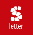 Abstract logo letter S on a red background vector image vector image