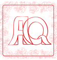 AQ monogram vector image