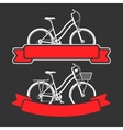 Bicycles and ribbons vector image