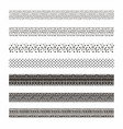 black abstract tribal seamless pattern vector image