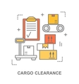 Cargo clearance web banner vector image