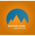 mountains and sun icon vector image