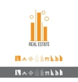Real estate line lineart logo icon set vector image