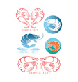 shrimp logo vector image
